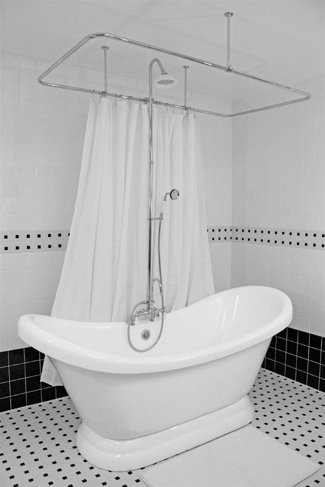"""59"""" Double Slipper Pedestal Tub and Shower w air massage $3197"""