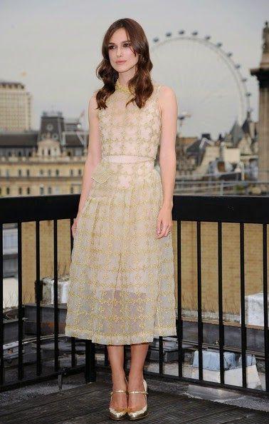 Fantasy Fashion Design: Keira Knightley de Simone Rocha, en el estreno de ...