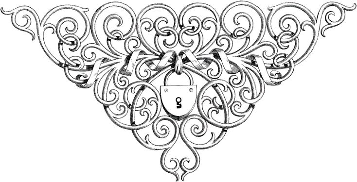 Ornate Lock Images - Graphics Fairy (also on website in red)