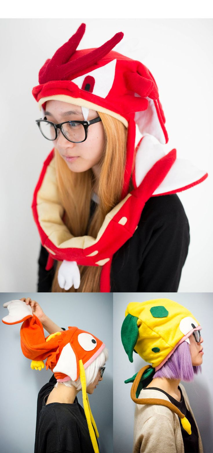 Pokemon Hats! #pokemon #hats #cosplay #kawaii #cute #anime #nintendo #merchandise
