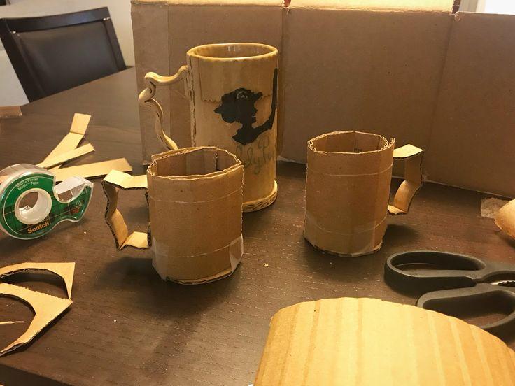 Trompe-l'œil Cardboard mug