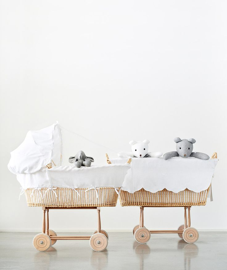 Berceaux vintage et peluche souris grises et blanches!