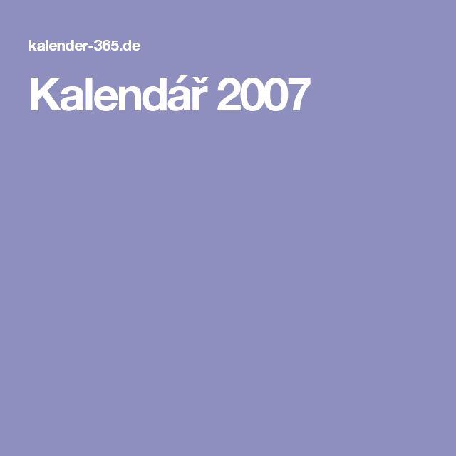 Kalendář 2007