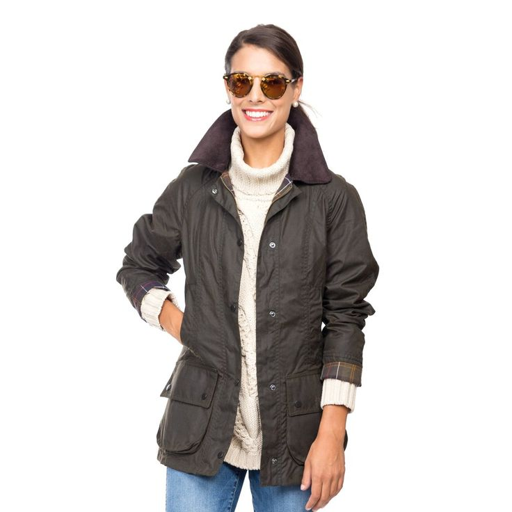 Barbour® Classic Olive Beadnell Wax Jacket
