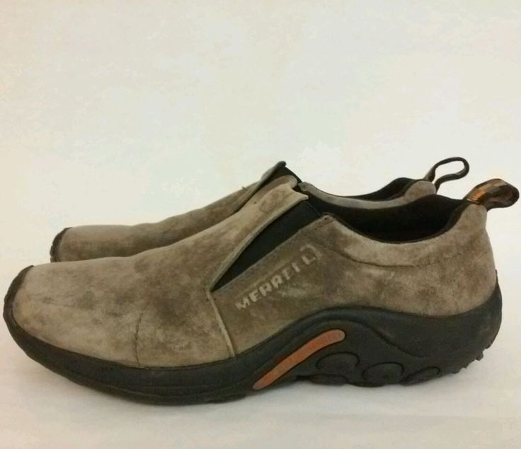 MERRELL Jungle Moc Gunsmoke Men Size 10 Clog Slip On Suede Mens Shoes #Merrell #JungleMoc