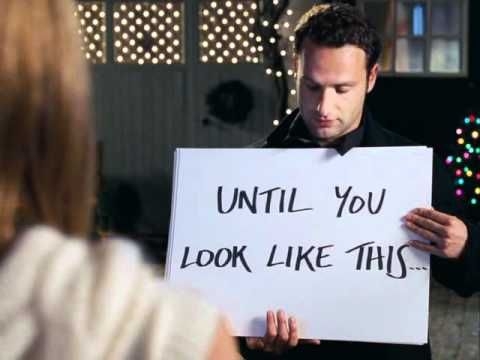 "From the movie ""Love Actually.""  Andrew Lincoln and Keira Knightley in a beautiful and bittersweet scene.  Has to be watched to be appreciated.  The very last line while he's walking away kills me every time!"