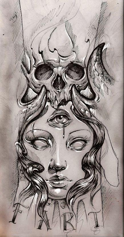 tattoo sketch by bhbettie.deviantart.com minus the fart part lolol