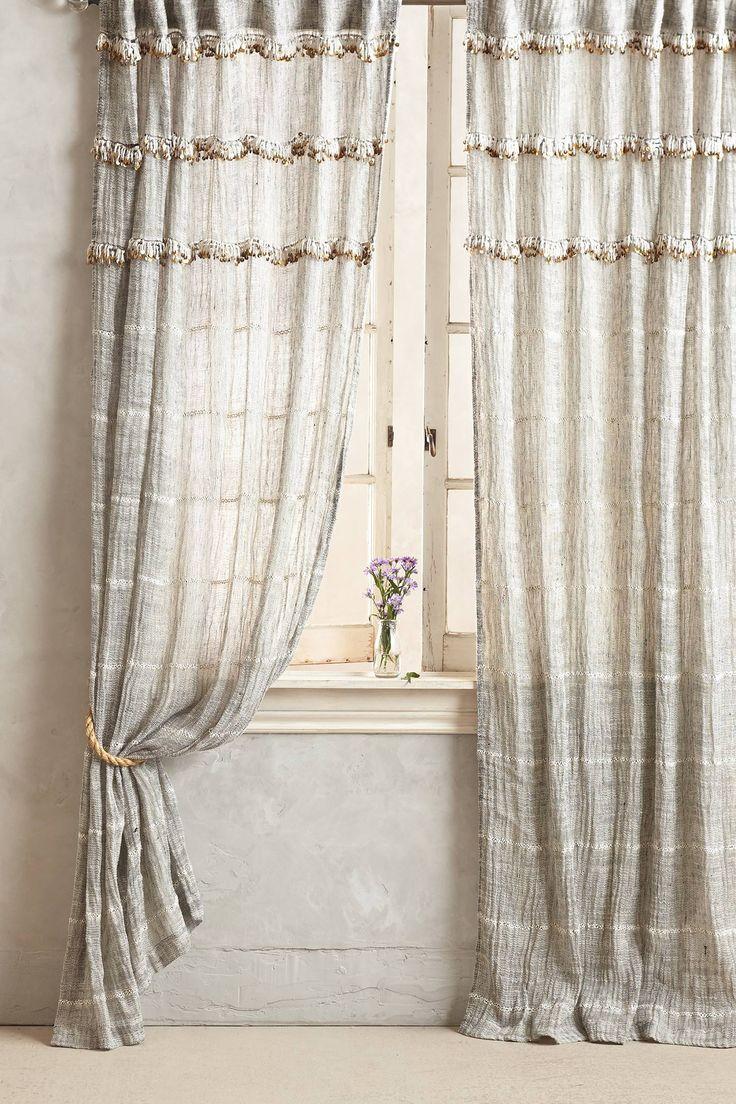 All products bedroom bedroom decor window treatments curtains - Graduated Tassel Curtain Window Coveringswindow Treatmentsbedroom Designsanthropologyliving