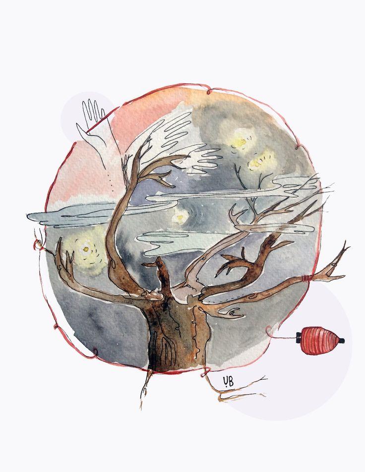 rootsupinthesky illustration by ugnebalc