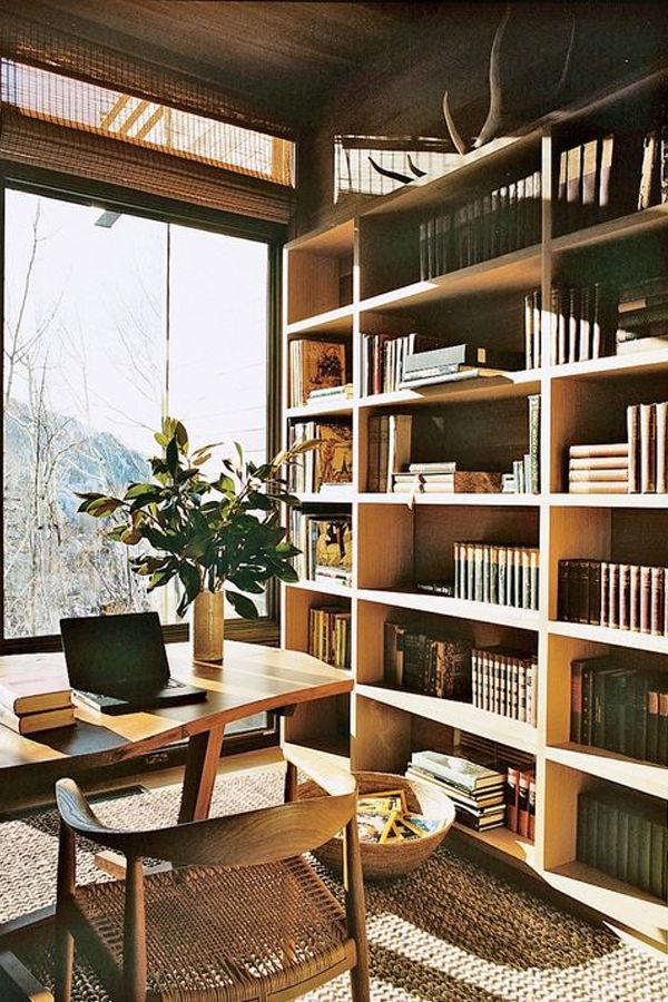 Earthy Home Office | Aerin Lauder's home office in Aspen | Dream Spaces | Travelshopa