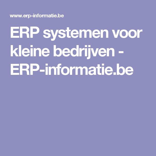 ERP systemen voor kleine bedrijven - ERP-informatie.be