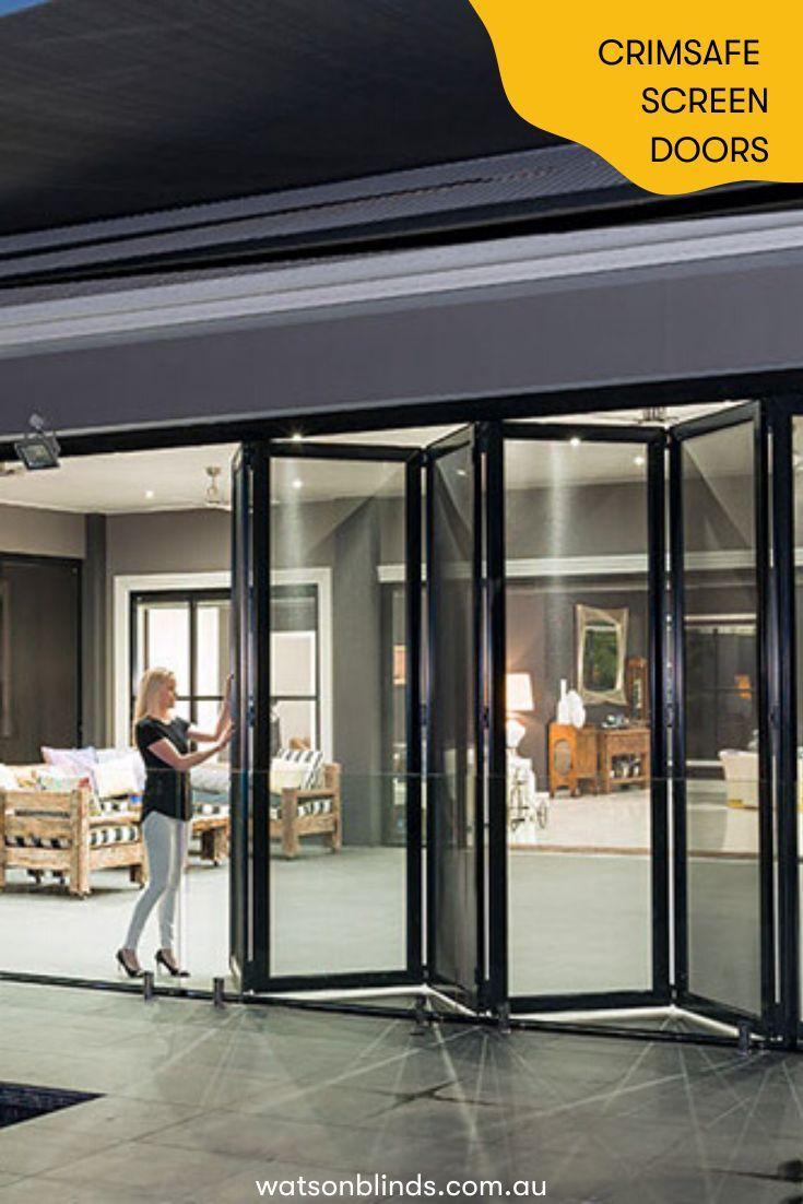 Crimsafe Screen Doors Windows In Canberra Modern Window Treatments Screen Door