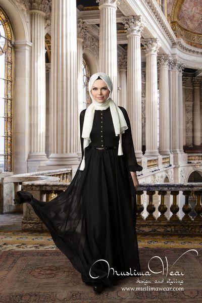 Classy Black French Chiffon Dress