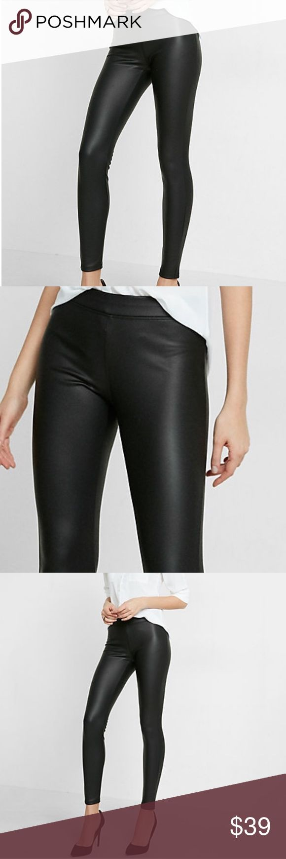 Express Faux Leather Leggings- Size L Express Faux Leather Leggings- Size L Express Pants Leggings