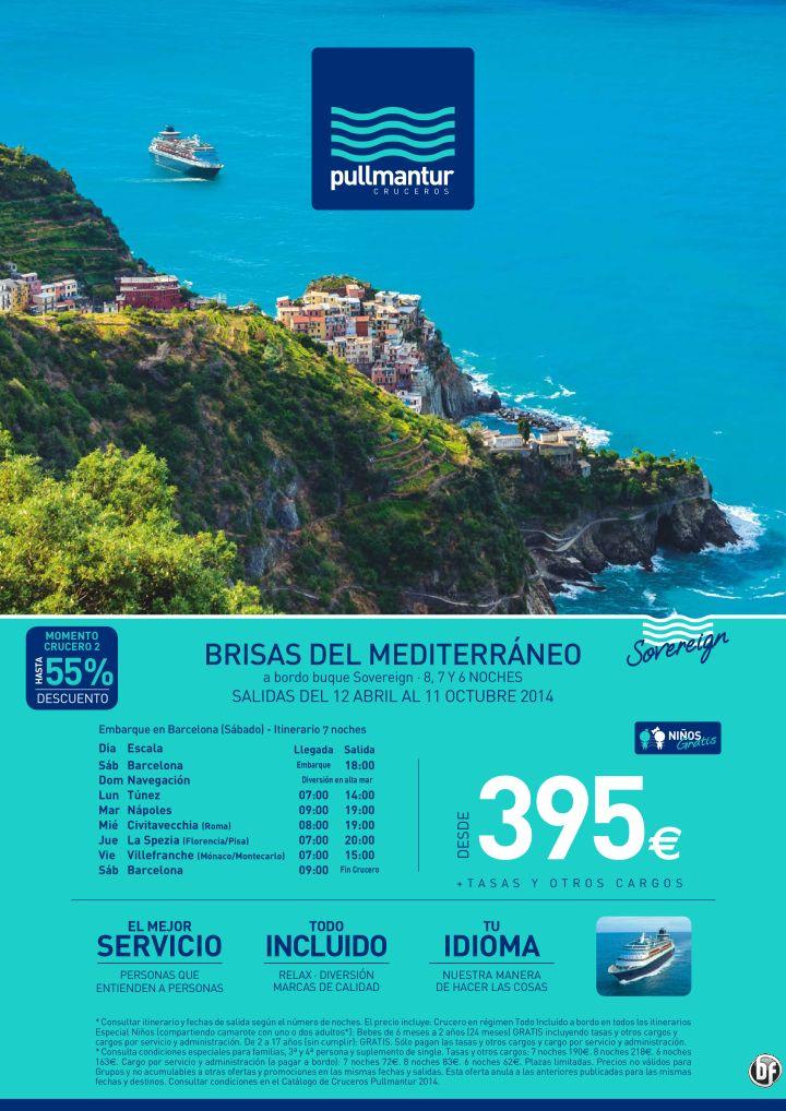 Crucero Brisas del Mediterráneo - Pullmantur - Todo Incluido - Desde 395€ ultimo minuto - http://zocotours.com/crucero-brisas-del-mediterraneo-pullmantur-todo-incluido-desde-395e-ultimo-minuto/