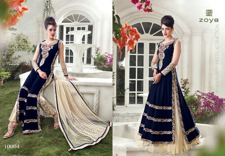 """BellaStiles Presents """"Zoya embroidery Dresses"""" Fabric: Heavy party-wear velvet with Heavy embroidery.  To place #Orders : (#USA): 610-616-4565, 610-994-1713; (#India):91-226-770-7728, 99-20-434261; E-MAIL: market@bellastiles.com, wholesale@bellastiles.com  #Dresses #Anarkali #Lehanga #Patiala #Straight #Churidaar #fashion #ethnic #stylish #embroidery #sale #discount #festiveoffer #pretty #ladies #shopping #Trendy #Elegant #Beautiful #freeshipping #ecommerce #online"""