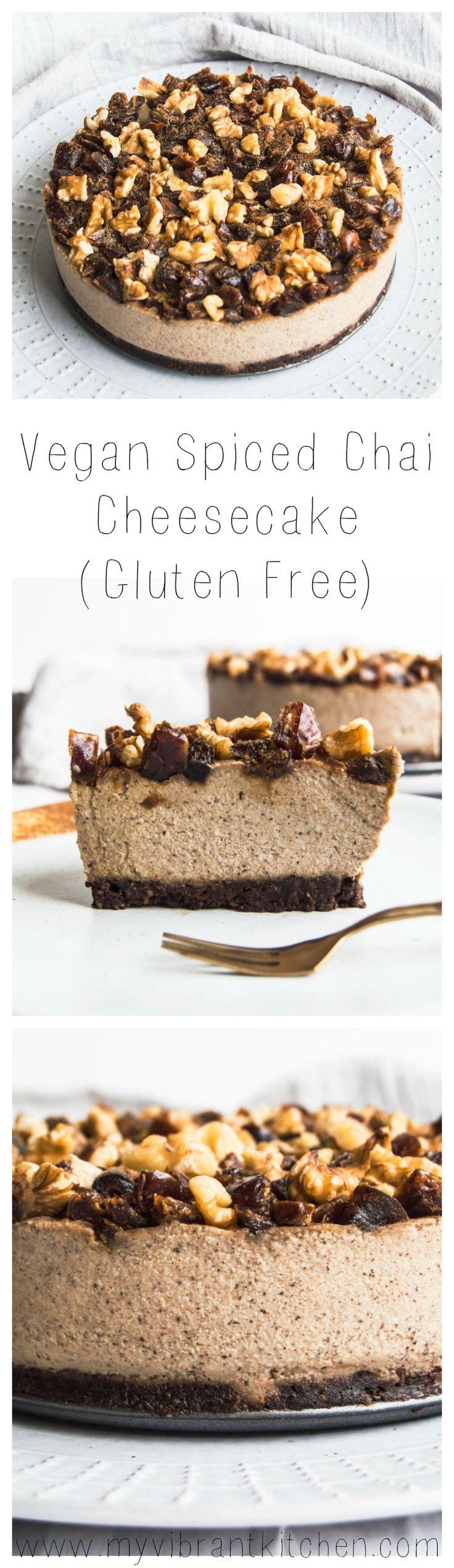 My Vibrant Kitchen   Vegan Spiced Chai Cheesecake (gluten free)   myvibrantkitchen.com