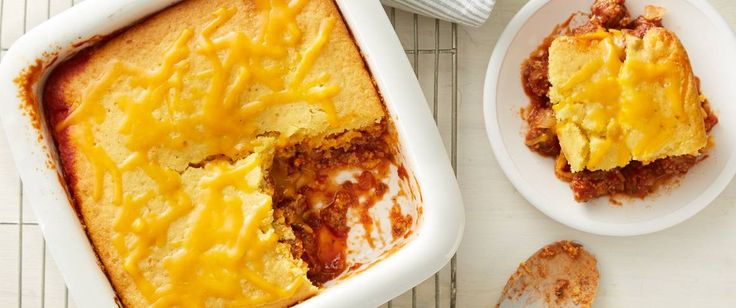 """A hearty cornbread topping creates the """"bun"""" for this delicious Sloppy Joe casserole."""