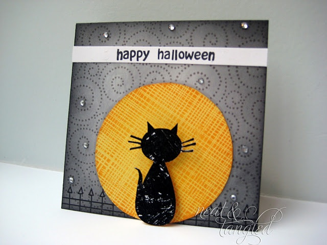 """black cat - could use the cat from the """"screen door"""" die."""