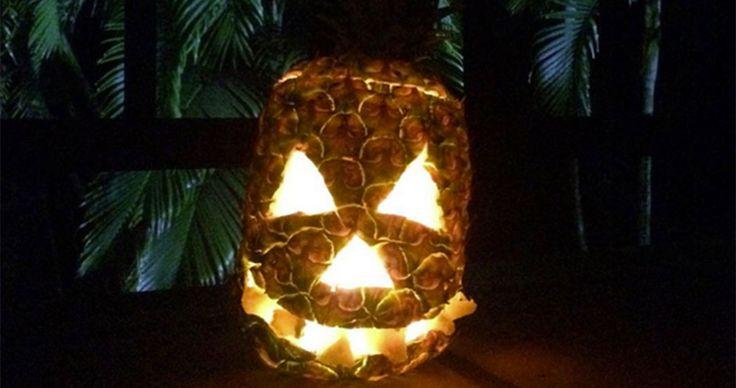 Ananas-Schnitzereien sind der neue Halloween-Trend #News #Wohnen
