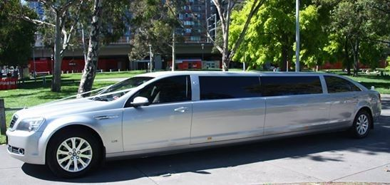 Silver 11 seater Stretch Statesman Limousine in Melbourne