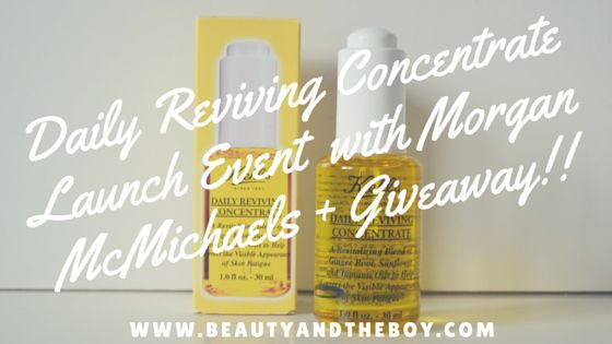 Daily Reviving Concentrate Launch Event  with Morgan McMichaels + Giveaway!!