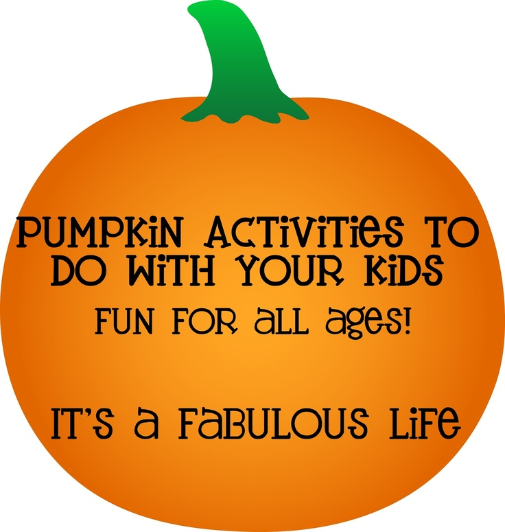 LOTS & LOTS of  Fun Pumpkin Activities to do with your kids (including experiments!) It's A Fabulous Life