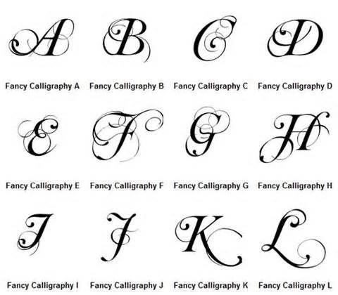 Graffiti Letters Fancy Calligraphy Alphabet