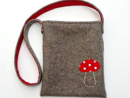Kid's Foraging Bag - Mushroom  https://cherryberry.felt.co.nz