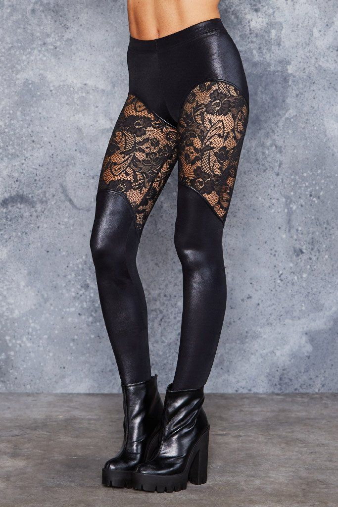 Bootleg Lace Leggings - LIMITED