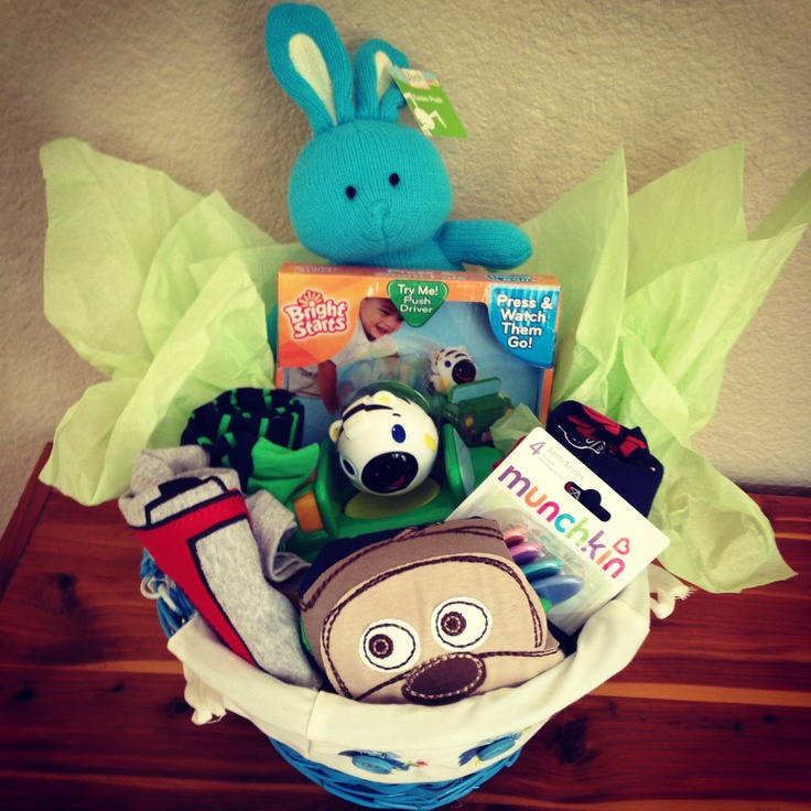 4970 best easter ideas for easter baskets images on pinterest infant easter basket miles first one negle Images