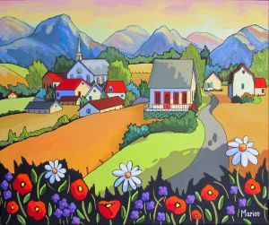 *Village Fields* ~ by Louise Marion ༺❀❀༻