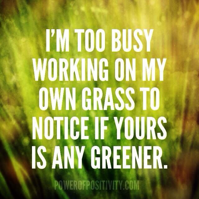 too busy working on my own grass #happy #healthy