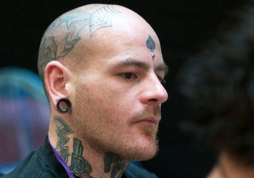 leaf-tattoo ~ http://heledis.com/beautiful-face-tattoo-designs/