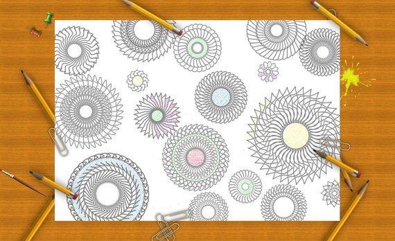 mandala intricate spiral adult coloring page di LaSoffittaDiSte