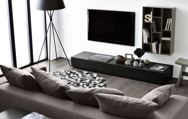 Like the layout of the TV area: simple, uncluttered, & easy to clean.