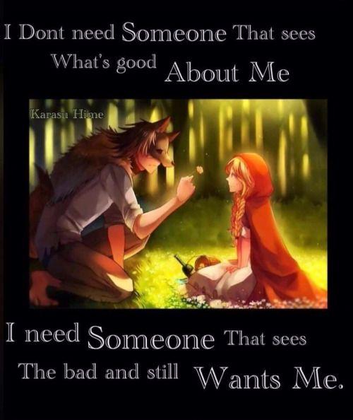 Eu n preciso de alguém q vê o q é bom em mim, eu preciso de alguém que vê todo o meu lado mal e permanece