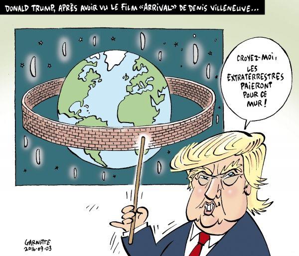 Les caricatures de Garnotte et de Pascal: Donald Trump, après avoir vu le film…