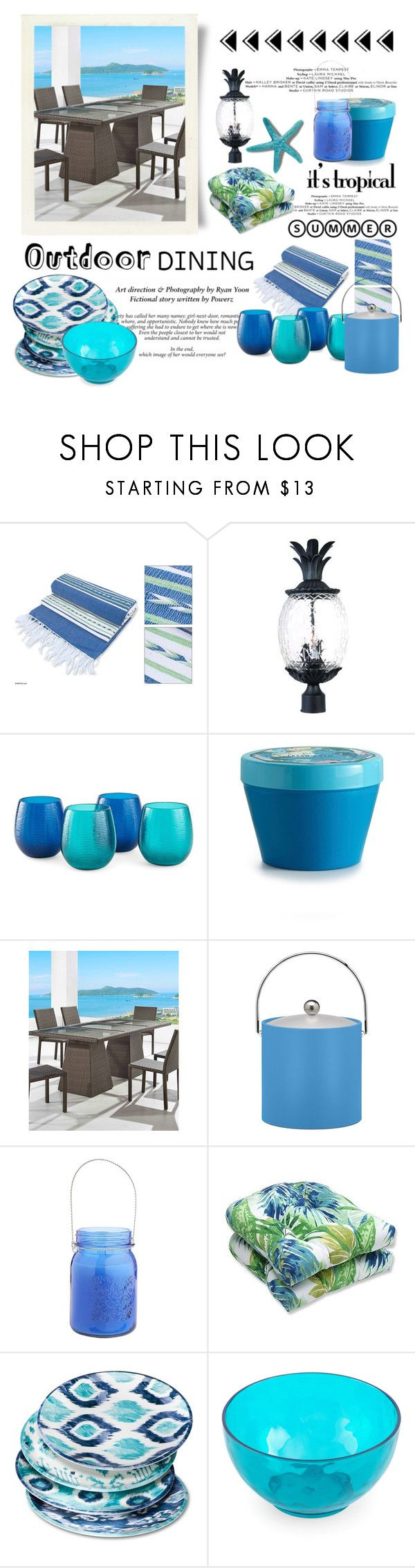 """""""Tropical Outdoor Dining"""" by conch-lady ❤ liked on Polyvore featuring interior, interiors, interior design, home, home decor, interior decorating, NOVICA, Acclaim, Outdoor Oasis and Illume"""