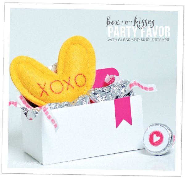 Box-o-Kisses Party Favor | Clear and Simple Stamps | how-to on blog | #csscreatewithlove