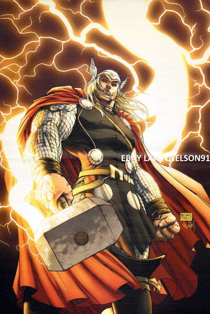 MICHAEL TURNER THOR #1 VARIANT MARVEL COMIC BOOK POSTER GOD OF THUNDER HAMMER