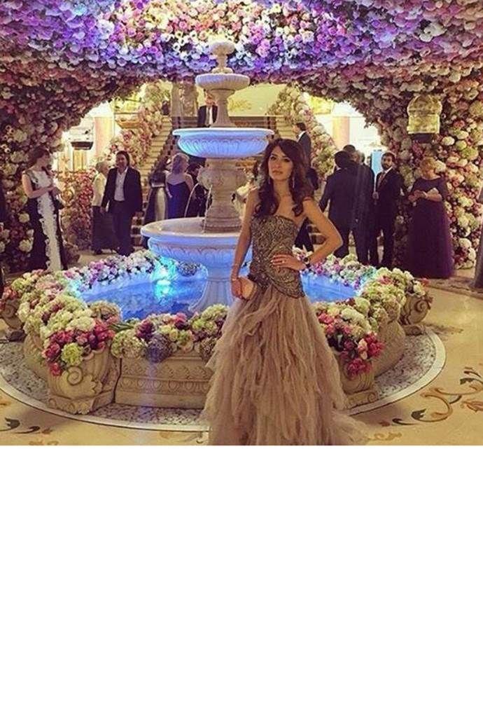 This Is What A One Billion Dollar Wedding Looks Like Silver Wedding Gowns Wedding Looks Extravagant Wedding
