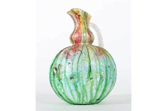 "Vase ""Silveria"" Stevens & Williams, Stourbridge, England um 1900, farbloses Glas, mundgeblasen, a"