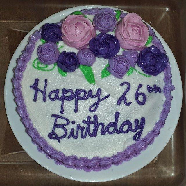 Enjoyable 23 Best Picture Of 26 Birthday Cake 26 Birthday Cake Golden Funny Birthday Cards Online Necthendildamsfinfo