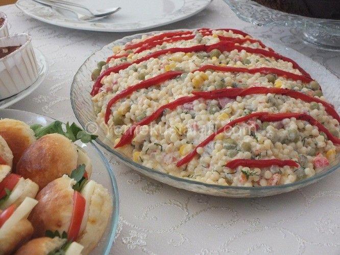 Pratik Yoğurtlu Kuskus Salatası Tarifi | Pratik Yemek Tarifleri