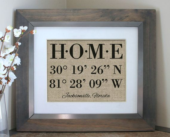 Housewarming Gift | Our First Home | New Home Housewarming Gift |House Warming Gift | Latitude Longitude Sign | Address Sign, House Numbers