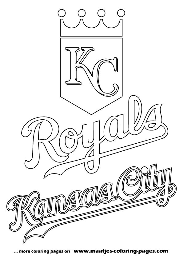 Kansas City Royals Logo Coloring Page From MLB Category Select 27260 Printable Crafts Of Cartoons Nature Animals Bible And Many More