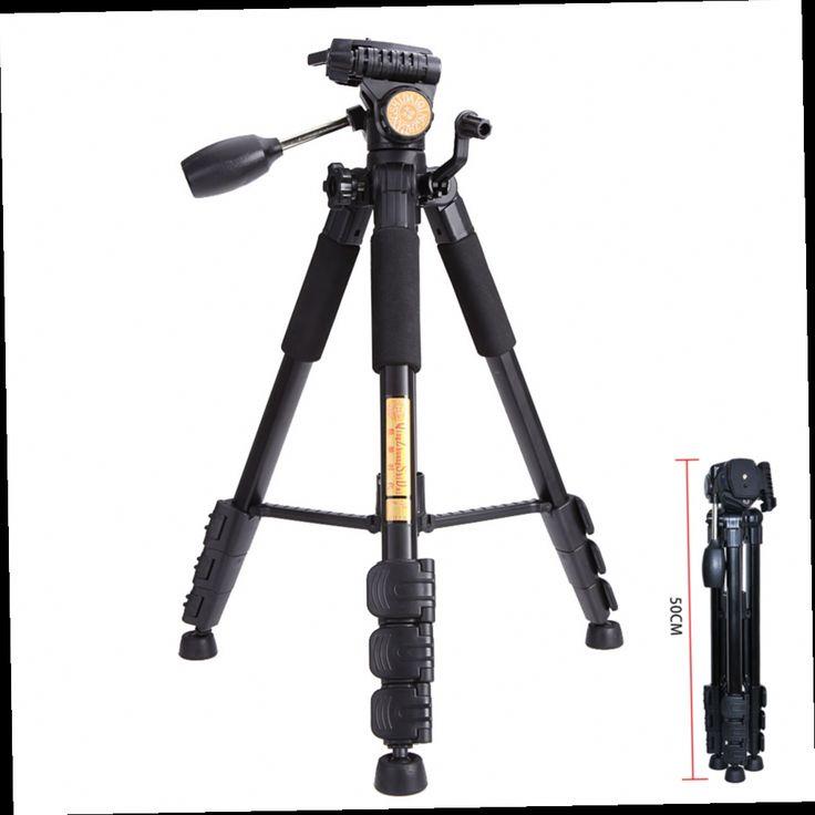 51.09$  Watch here - http://alidb4.worldwells.pw/go.php?t=32741925965 - Q111 Professional Portable Travel Camera Tripod Aluminum Alloy Lightweight Ball Head For Canon Nikon Sony SLR Camera QZSD