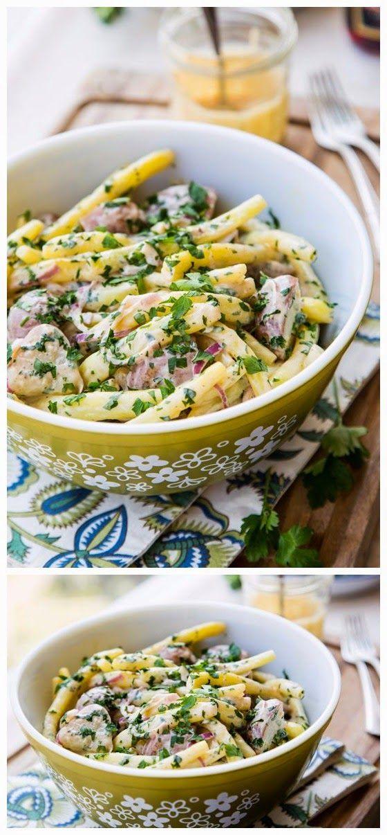 Miso Potato Salad with Yellow Wax Beans