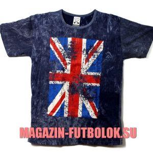 Вываренная винтажная футболка с Британским флагом